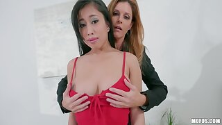 Office sketch with India Summer plus Jade Kush is Fescennine into threesome