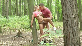 Elegant amateur chick fucked into hammer away wilderness and creamed like a whore