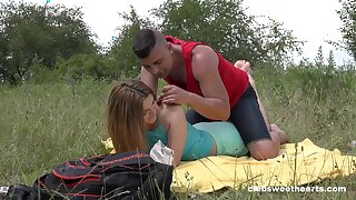 Abysm penetration outdoor romance for this firsthand 18 teen