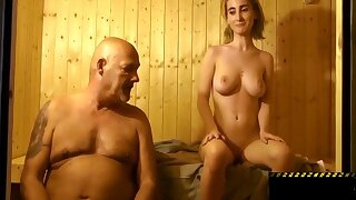Ungentlemanly Fucked Old Man In The Sauna