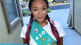 Little Squirtles – Little Slutty Wholesale Scout Sells Cookies By Sucking together with Fucking Her Neighbor - 1080p