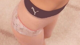 My old unicorn panties – Summing-up GOOD for my shaved pussy