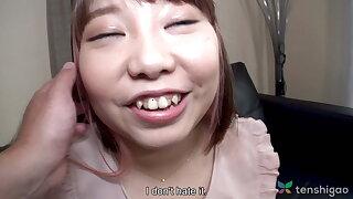 Chubby Japanese teen Haruka Fuji alongside first time video