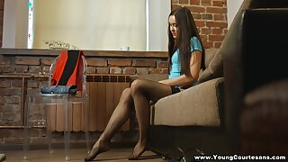 Wild doggy goes right after cock riding workout performed by Tera Gold