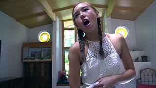 Small tits cutie Brandi Braids enjoys getting fucked by her lover