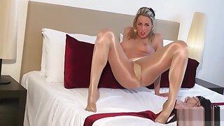 Tight Pussy..art Be incumbent on Gloss Pantyhose Shiny Glossy Legs Tease