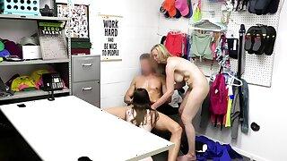Cute teen and a MILF shoplifter caught